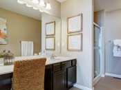 Master Bath as seen in our display